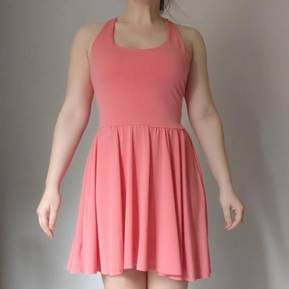 Pink/Color Criss Cross Back Dress